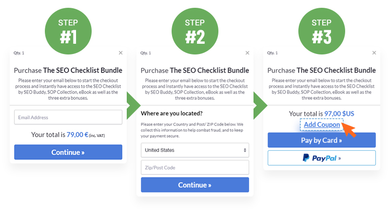 The SEO Checklist By SEO Buddy  Image of faq coupons