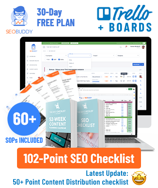 Illustration of an SEO Checklist Board