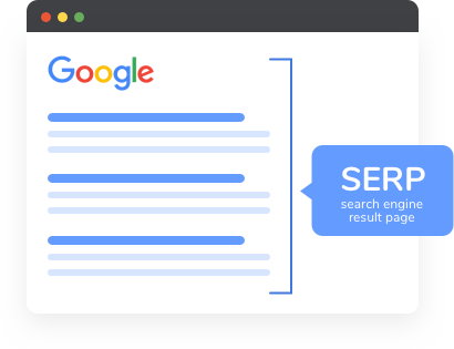 Illustration of Google SERP