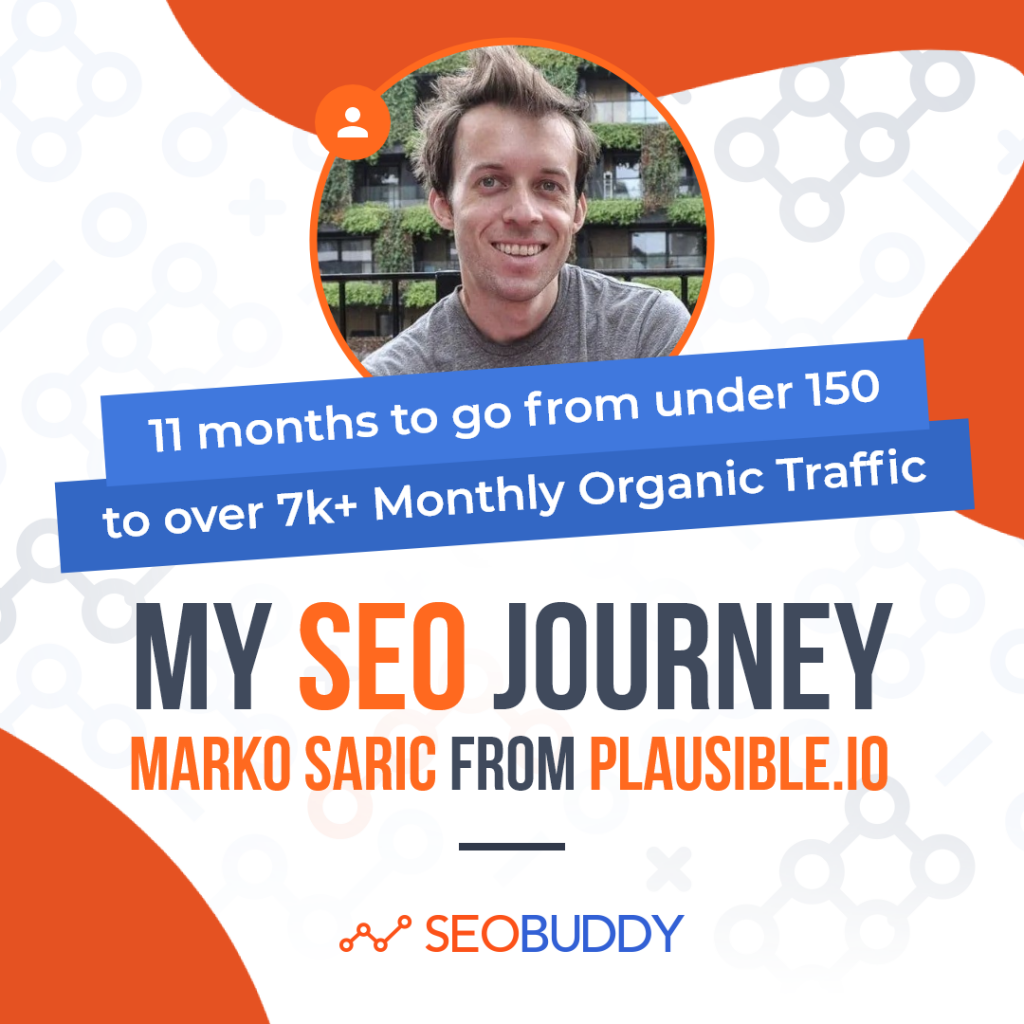 Marko Saric from plausible.io share his SEO journey