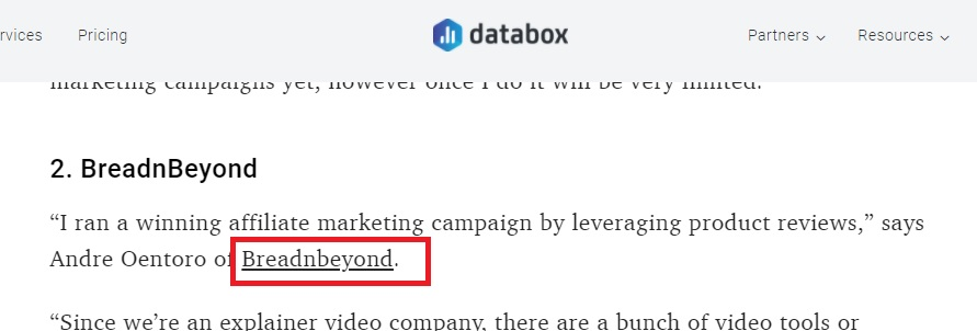 Expert Roundup mention to Breadnbeyond on Databox