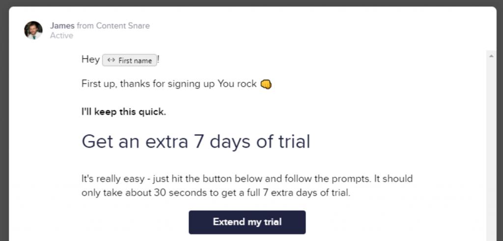 Extended trial offer on contentsnare.com