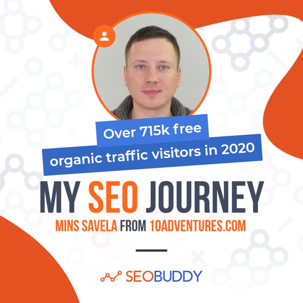 Mins Savela from 10Adventures.com share his SEO journey