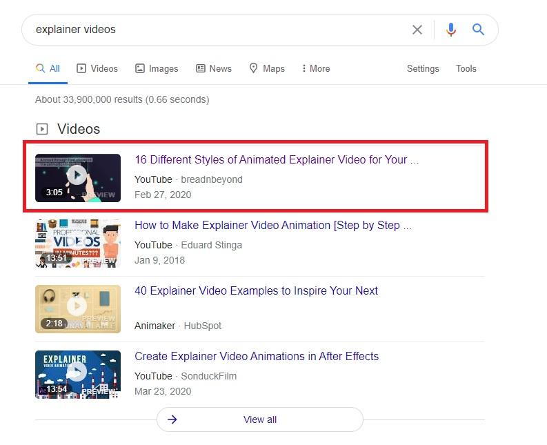 Video SEO - Videos Ranking in Google SERP