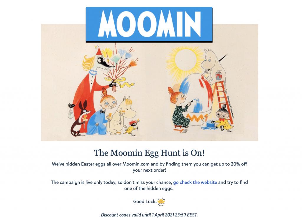 Moomin Newsletter Example