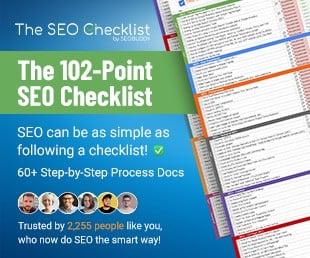 The 102-Point SEO Checklist by SEO Buddy
