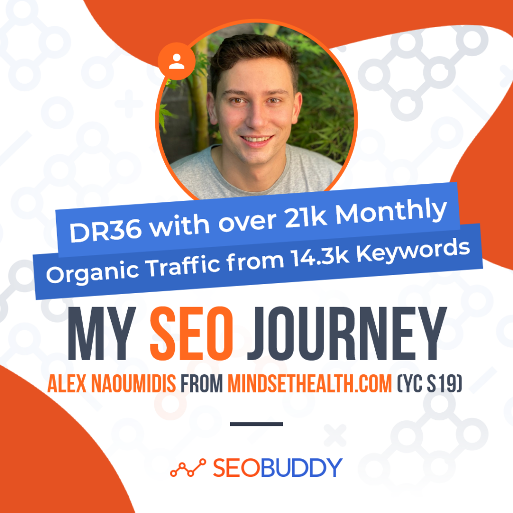 Alex Naoumidis from mindsethealth.com share his SEO journey