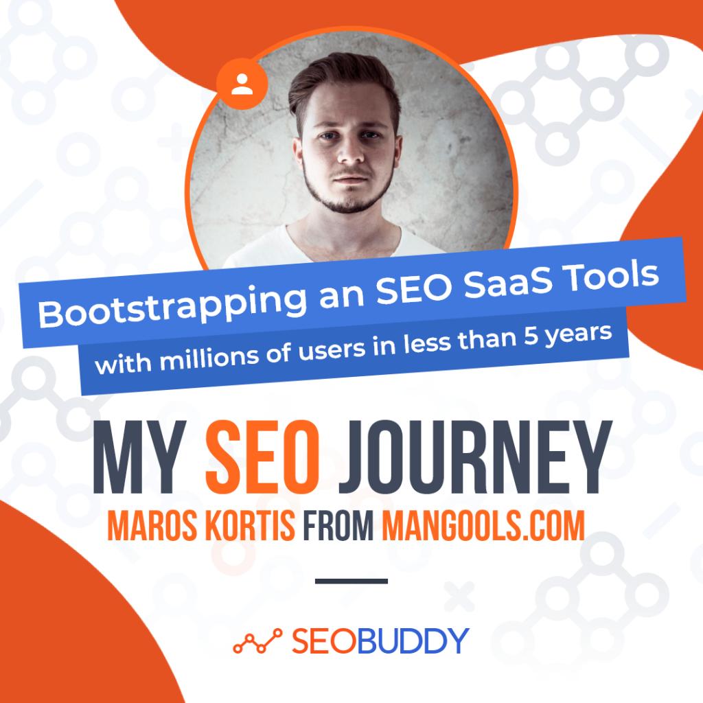Maros Kortis from mangools.com share his SEO journey