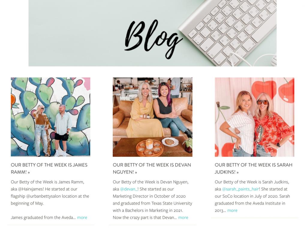 Official Blog of urbanbetty.com