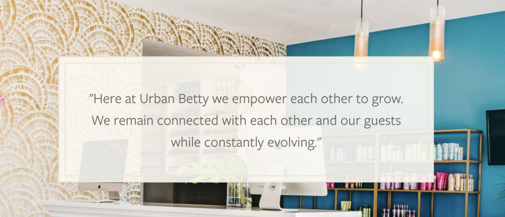 """Mission Statement of the company """"Urban Betty"""""""